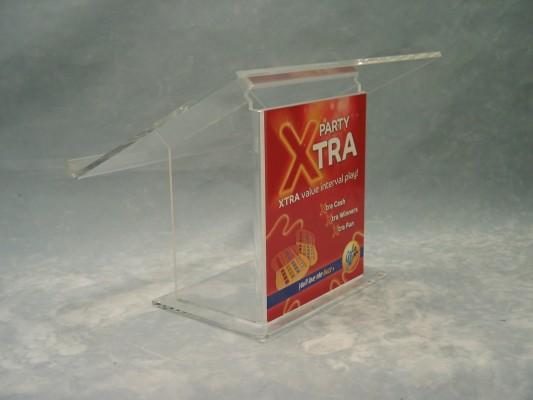 Clear acrylic lectern