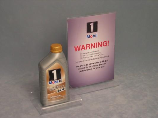 Clear Acrylic Mobil oil